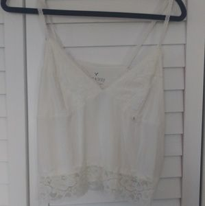 American Eagle Crop Lace Cami
